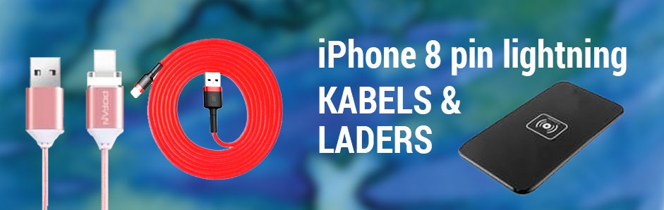 iPhone 8 pin lightning kabels & laders